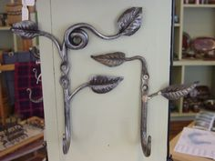 forged pair of leaf hooks