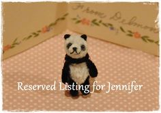 Pipe Cleaner Tiny Panda by maruton on Etsy