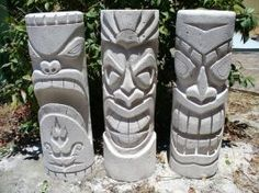 tiki by the dr of style concrete tikis HD Wallpaper Stone Carving, Wood Carving, Totem Tiki, Tiki Maske, Deco Pirate, Tiki Faces, Tiki Head, Tiki Statues, Tiki Art