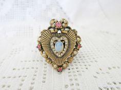 Heart-felt Ring by Vintage Bling