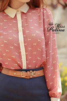 Keep Your Shirt On blouse in dog print. £45.80