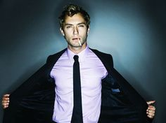 Jude Law smokes..I believe I am in love. Or just deeply infatuated to the point of possible obsession. No...I believe I'm in love. Dear Lord..