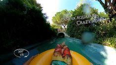 Caneva Aquapark Crazy River (Tube) 360° VR POV Onride Vr, Tube, Outdoor Decor