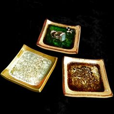 Glass Infused Pottery - JEWELRY DISHES