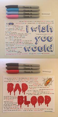 I wish you would& Bad Blood lyrics