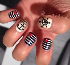 Nautical-inspired nails are a stylish point in the right direction.