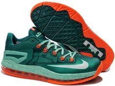 c5c5a923a8d2 Nike Lebron 11 xi Low Green Orange Lebron 11