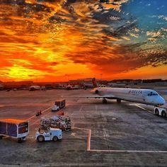 Sunset at Atlanta International Airport, 2016