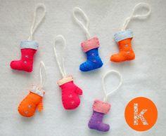 Konfeta Kroj, felt gloves, felt boots, christmas decorations, handmade christmas