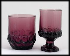 Tiffin Franciscan Madeira Plum Amethyst Wine and Double Old Fashioned Glass