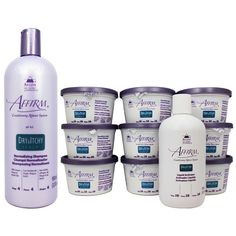Avlon Affirm Dry and Itchy Scalp Sensitive Scalp Normalizing Shampoo & 9-piece Relaxer Set