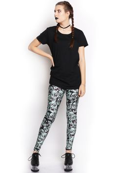 The Living Dead Leggings - $65.00 AUD