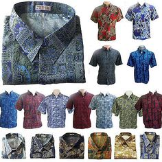 Mens thai silk #patterned shirt long / short #sleeve paisley hawaiian #casual cam, View more on the LINK: http://www.zeppy.io/product/gb/2/301751112167/