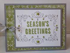 "Letterpress Winter, All is Calm DSP, Pearls, Silver 1/8"" Taffeta Ribbon"