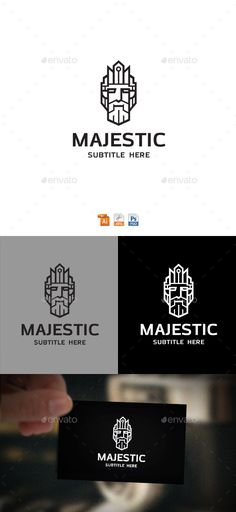 King Logo — Photoshop PSD #logo #iron • Download ➝ https://graphicriver.net/item/king-logo/19562094?ref=pxcr