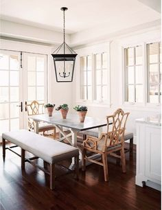 I Love The Idea Of Benches Vs Chairs In A Formal Dining Room