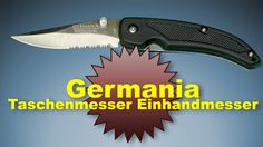 Germania Einhandmesser  mit einer feststellbaren 7,5 cm Klinge am Ende der Klinge ist eine kleine Säge