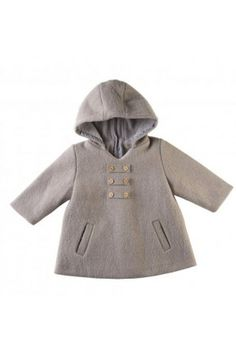 PHONG (=Wind) coat -  Boiled wool Trapeze cut coat with a large hood and invisible back zip. #save £52 on TendreDeal Boutique until 1/03/15