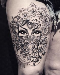 50 of the most beautiful mandala tattoo designs for body & soul - tattoos - . - 50 of the most beautiful mandala tattoo designs for body & soul - Unique Tattoo Designs, Unique Tattoos, Beautiful Tattoos, Awesome Tattoos, Beautiful Body, Amazing Tattoos For Women, Artistic Tattoos, Thigh Tattoo Designs, Modern Tattoos