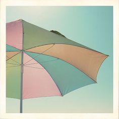 Items similar to Summer Umbrella Photograph Fine Art Print - beach sun sunshine pastel pink blue mint photo on Etsy Under My Umbrella, Beach Umbrella, Sun Umbrella, Weather Umbrella, Soft Colors, Pastel Colors, Colours, Pastel Blue, Pastel Palette