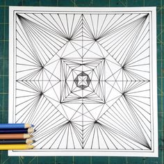 Printable Coloring Page  Pyramid Starburst by EvvieMarin on Etsy