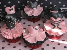 Tutu cupcakes!   All edible,hand made by Me Sandra with fondant .    Red velvet cupcakes centered with cream cheese frosting    -- www.facebook.com/HomeElegancecakes