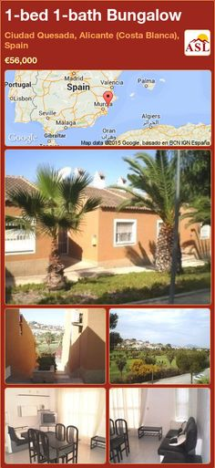 Bungalow for Sale in Ciudad Quesada, Alicante (Costa Blanca), Spain with 1 bedroom, 1 bathroom - A Spanish Life