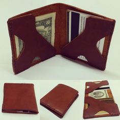 Image of Minimalist Bifold Leather Wallet