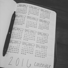 First page in my #bulletjournal look at all those tiny calenders! #bujo #tinycalendar