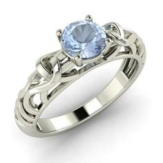 Cushion Cut White Simulated Opal Center Clear Cubic Zirconia Wave Mystere Ring Sterling Silver