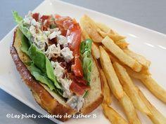 Les plats cuisinés de Esther B: Guédille au poulet et bacon croustillant