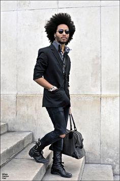 black style #men #fashion