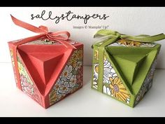 A fancy fold box to hold some chocolate eggs for Easter. A fancy fold box to hold some chocolate eggs for Easter. Fancy Fold Cards, Folded Cards, Stampin Up, Origami Tutorial, Card Making, Gift Wrapping, Wrapping Papers, Paper Crafts, Crafty