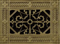 Beaux-Arts Classic Products - 410-867-0790 - makes decorative grilles from historical masters that have been digitally engineered to fit modern HVAC.