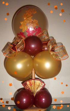 Autumn Balloon Centerpiece