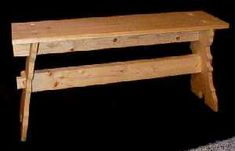 Plans for how to make a simple, medieval break-down bench.