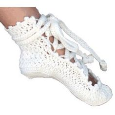 Ballerina Slippers - 7 Crochet Patterns In all Sizes Newborn To Ladies U.S. 10…
