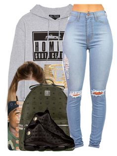 """""""South Central."""" by nasiaamiraaa ❤ liked on Polyvore featuring Brian Lichtenberg, MCM, Rolex, Maison Margiela, Khai Khai and NanaOutfits"""