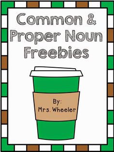 Common and Proper Nouns Freebies