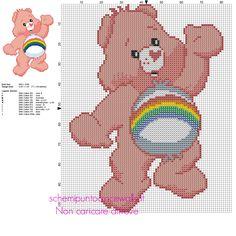Allegrorsa personaggio de Gli Orsetti del Cuore schema punto croce 77 x 104 10 colori DMC