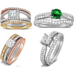 Lovely Bridal Set Ring by gems-cove on Polyvore
