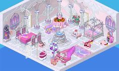 A cute room on Webkinz. This is also an example room for the love puffin contest.