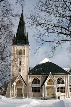 Church, Arvidsjaur, Sweden by _Zinni_, via Flickr