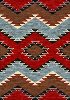 American Dakota Trader Rugs Heritage Area Rug - This Brown rug is an excellent choice for your home. Southwest Quilts, Southwestern Area Rugs, Southwestern Bedding, Surfergirl Style, Tapete Floral, Navajo Rugs, Navajo Art, Navajo Weaving, Native American Design
