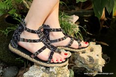 Earthy Womens Gladiator Sandals Summer Shoes by SiameseDreamDesign, $38.00