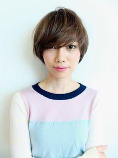 アンニュイショートボブ Japan+hair+short+long+bangs+layers+fine+haircut