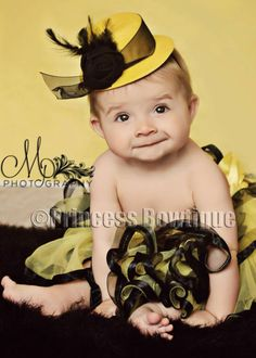 For my Mizzou baby   Yellow and Black Mini Baby Top Hat Headband