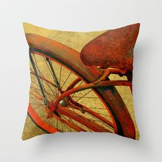 Vintage+Bike+Fall+Home+Decor+Color+Throw+Pillow+by+Stacy+Frett+-+$20.00