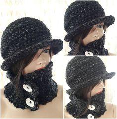 He encontrado este interesante anuncio de Etsy en https://www.etsy.com/es/listing/208448970/knit-hat-scarf-set-knit-accessories