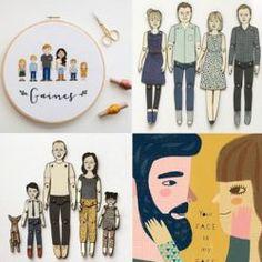5 illustrators who create your portrait on request